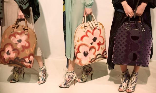 Burberry Prorsum des sacs peints à la main