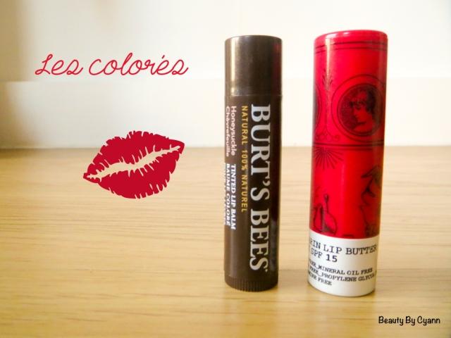 Baumes à lèvres colorés