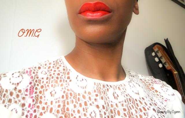 Rouge à lèvres orangé OMG Sleek